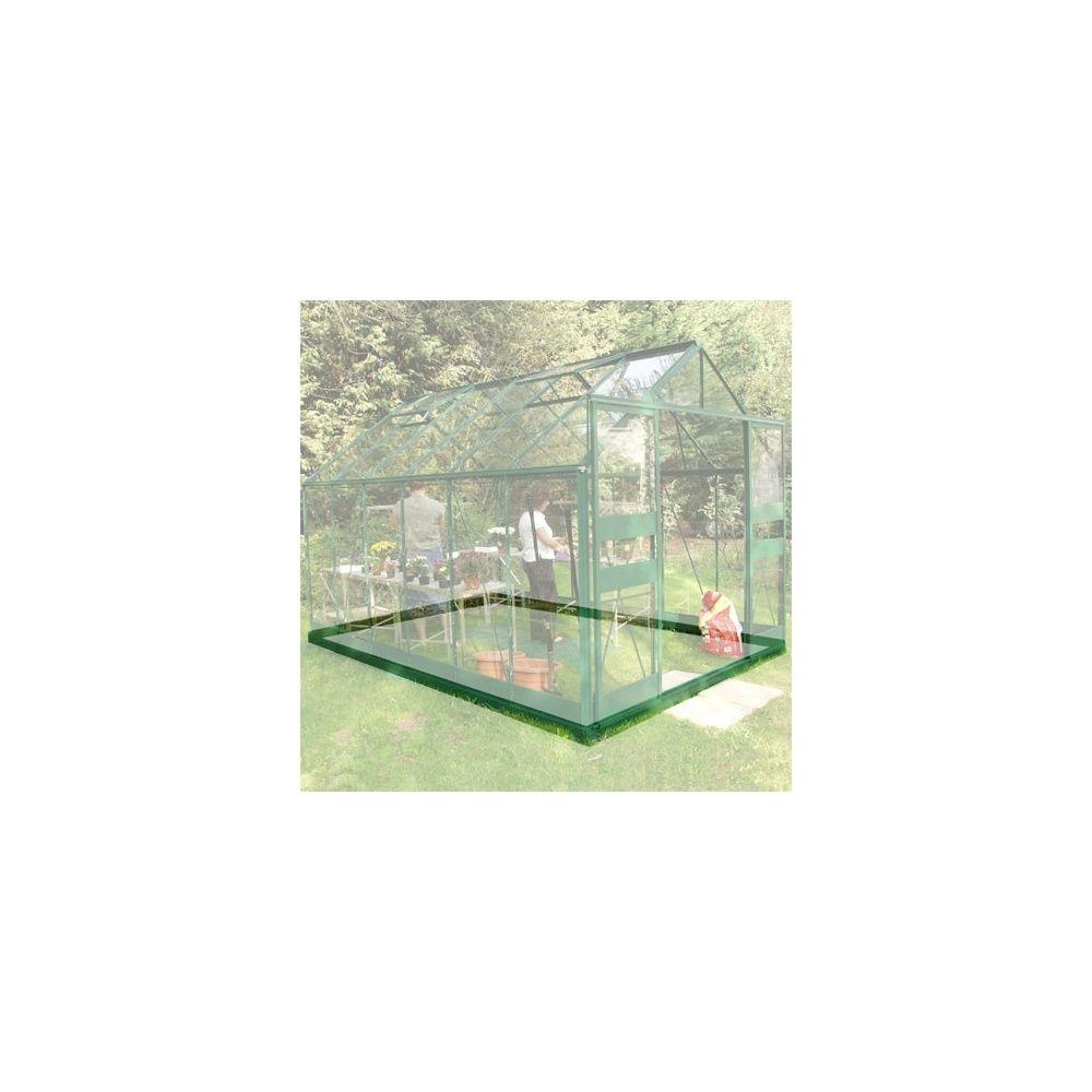 Embase pour serre en verre trempé Supreme vert 8.1 m² - Halls