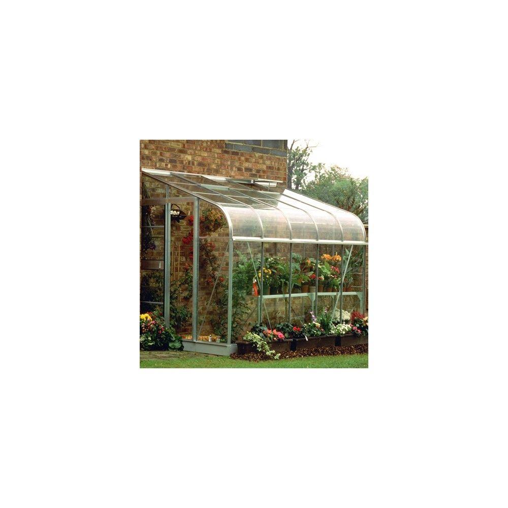 Serre de jardin adossée Silverline verre horticole 7,5 m² hors tout ...