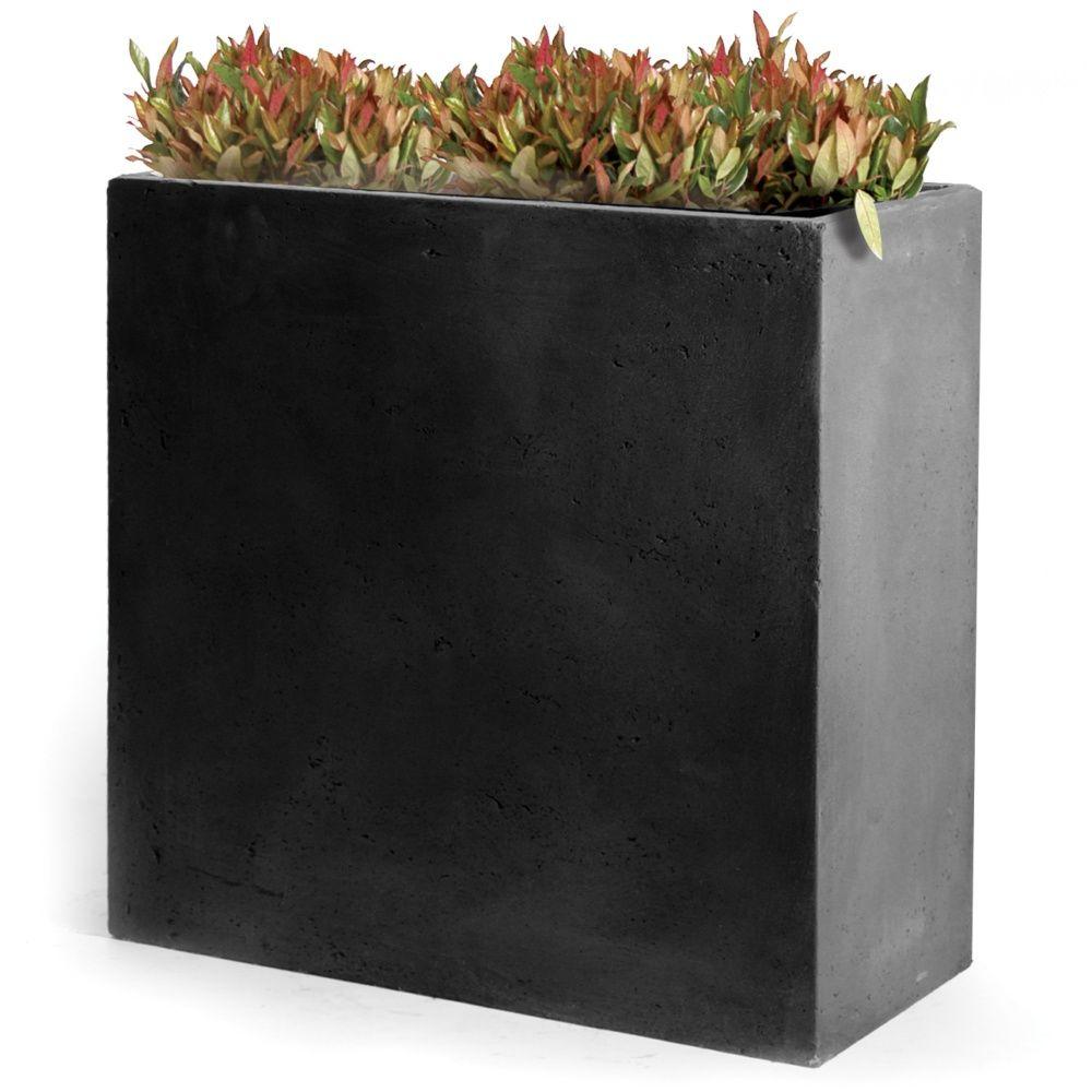Bac A Fleur Grande Taille bac à fleurs fibre de terre clayfibre l80 h92 cm anthracite