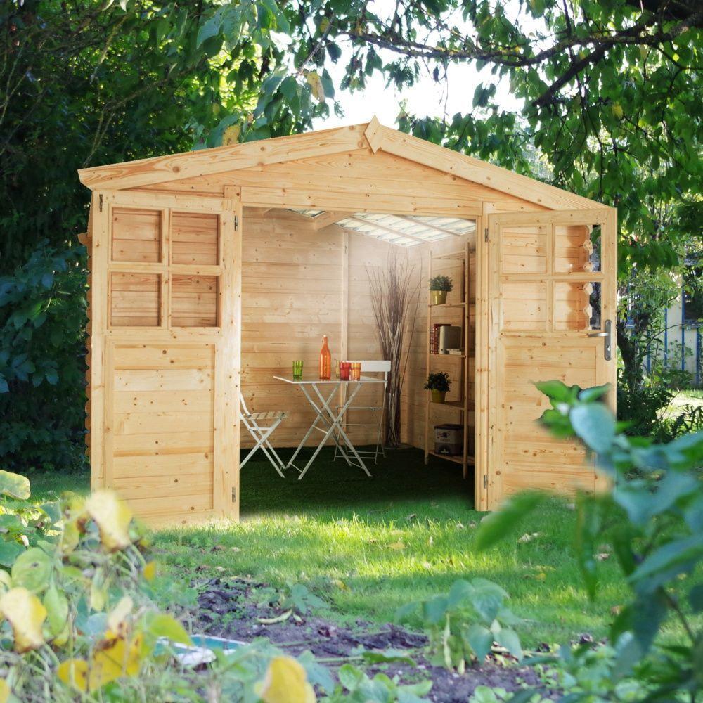 Abri de jardin bois toit polycarbonate 9,42 m² ep. 28 mm Soleil 1 ...