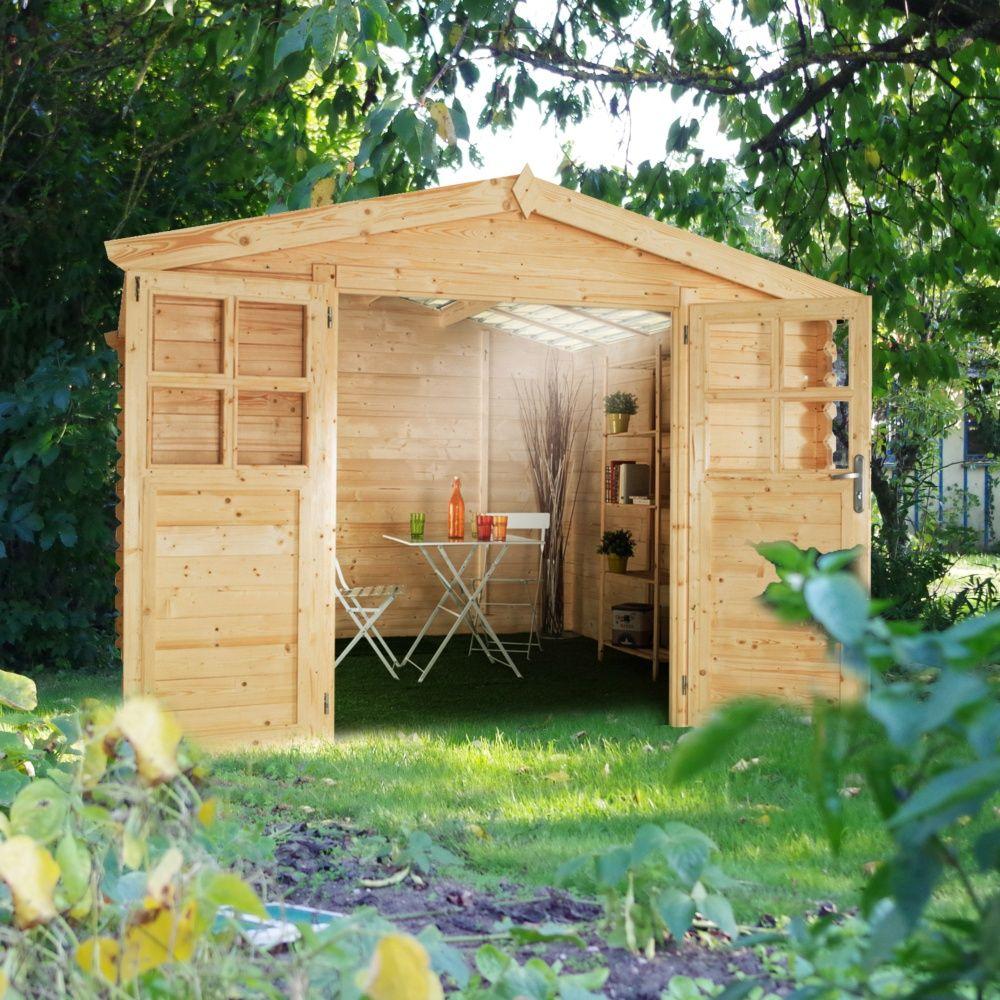 Abri de jardin bois toit polycarbonate 12,52 m² Ep. 28 mm Soleil