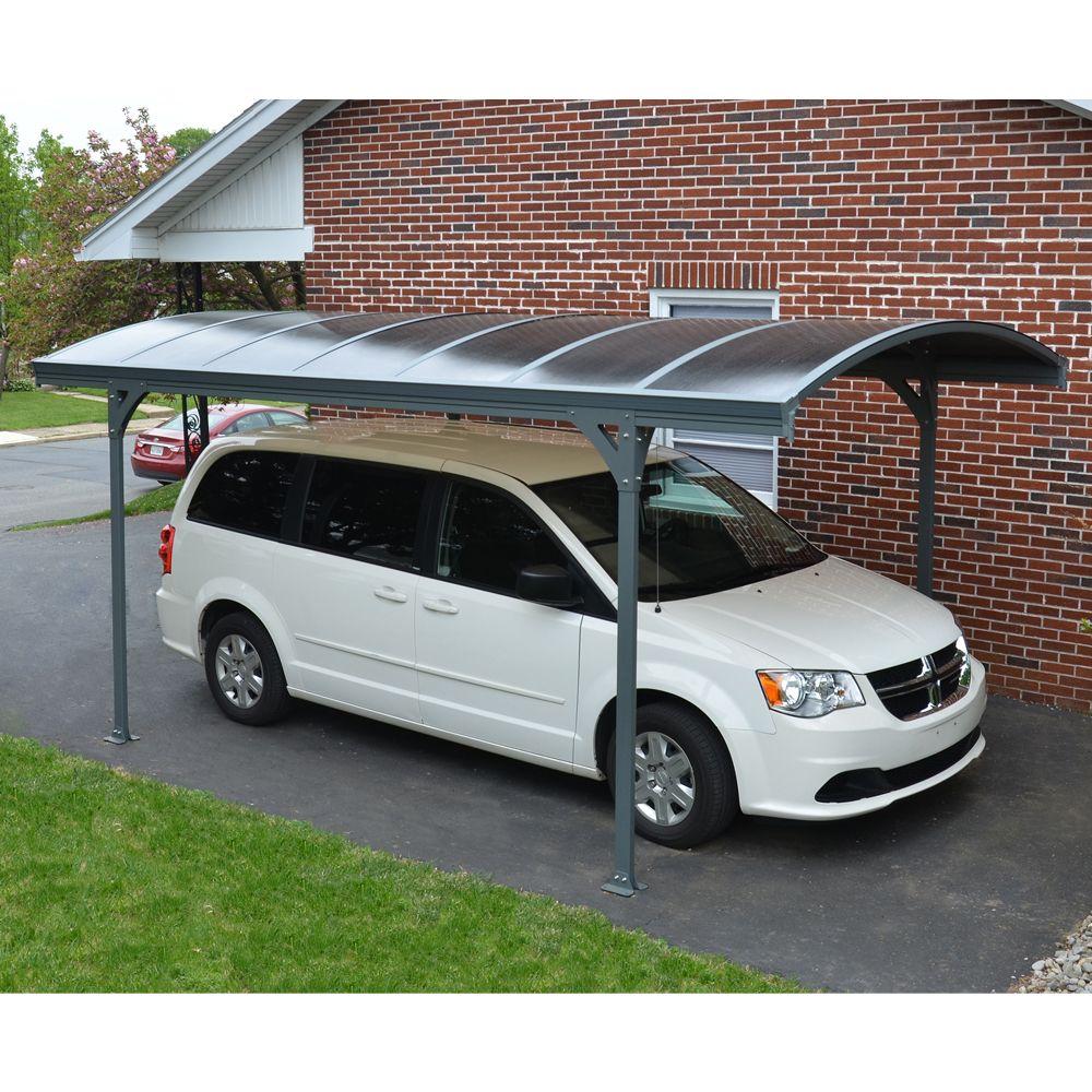 Carport aluminium toit polycarbonate Delage 5000 : 1 voiture - 14.50 m²