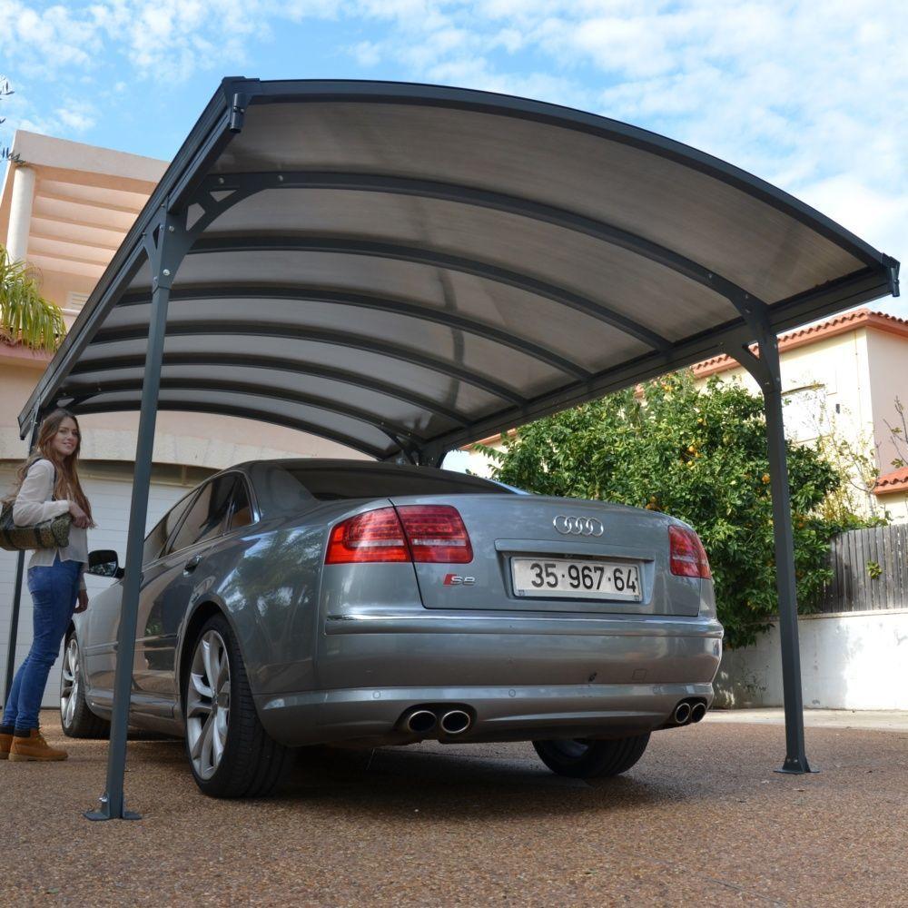 Carport Aluminium Toit Polycarbonate Delage 5000 1 Voiture
