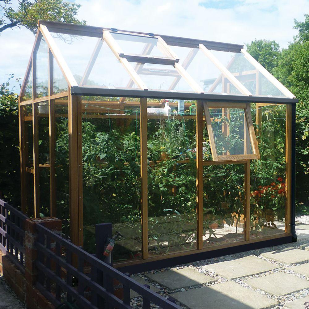 Le Cedre Rouge Paris 16 serre de jardin en bois et verre trempé classic 4.4m² hors tout cèdre rouge  juliana