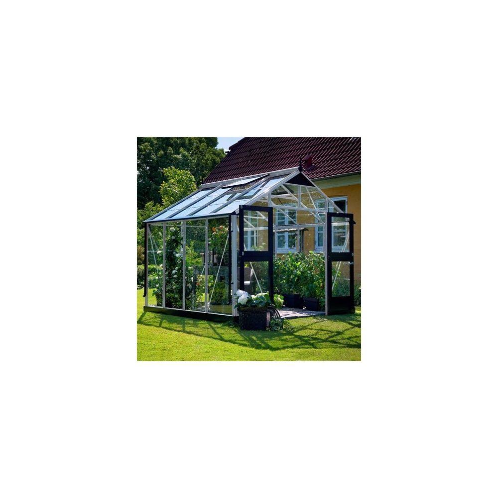 Serre de jardin - Serre en verre trempé Premium aluminium 8.80 m² + embase - Juliana - Serre de jardin GammVert