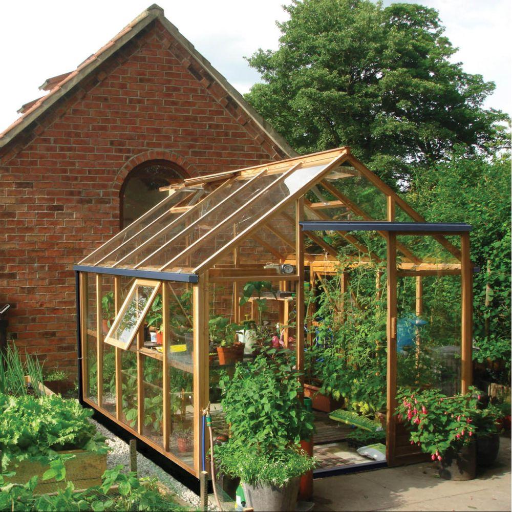 Serre de jardin en bois et verre trempé Classic 7.20 m² hors tout Cèdre  rouge Juliana