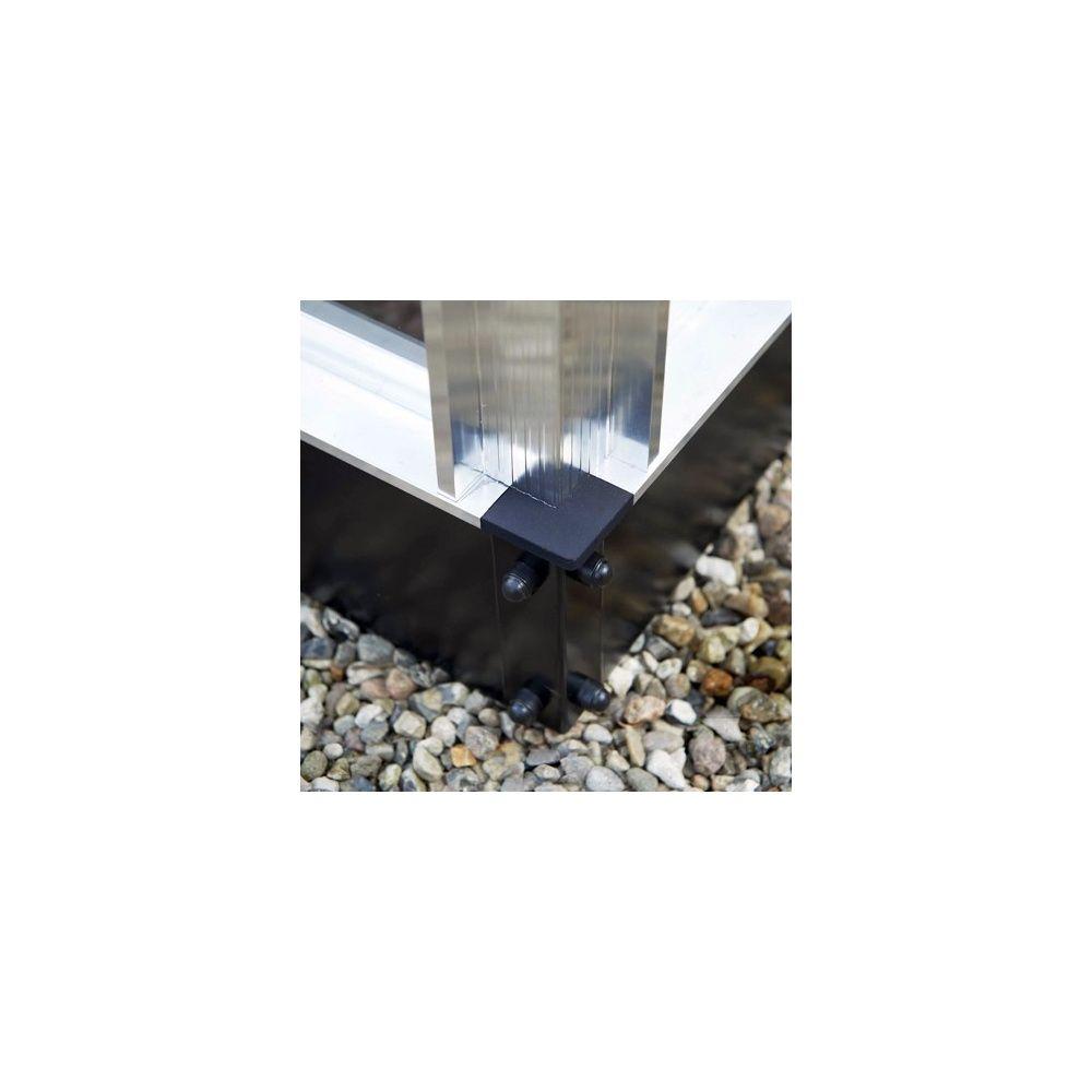Embase pour serre Premium acier noir 8.8 m² - Juliana