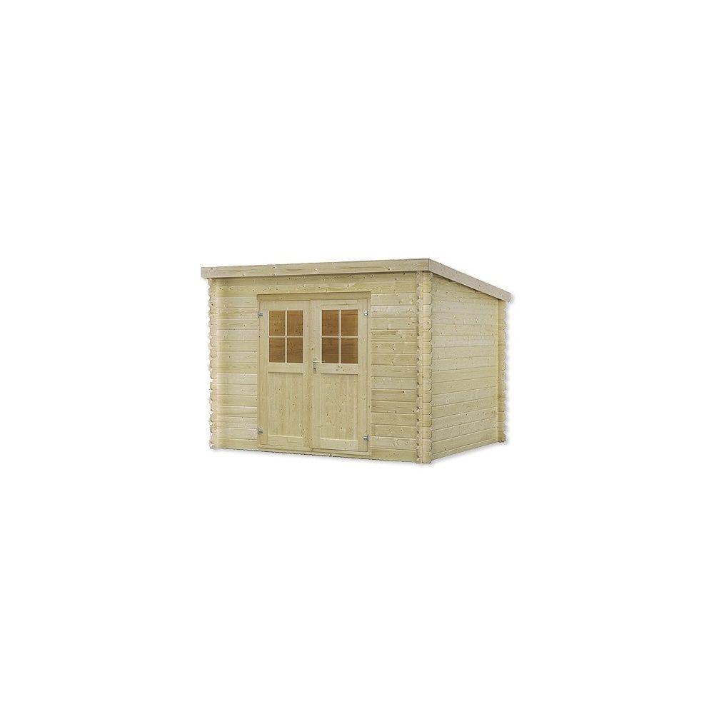abri de jardin en bois monopente Abri de jardin mono pente 9,7 m2 bois 28 mm PEFC double porte