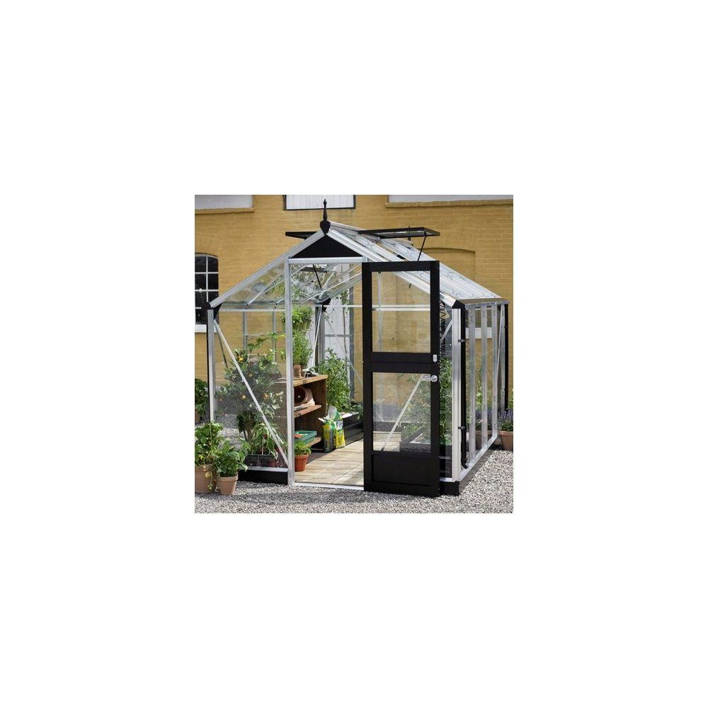 Serre de jardin - Serre en verre trempé Compact aluminium 8,20 m² + embase - Juliana - Serre de jardin GammVert