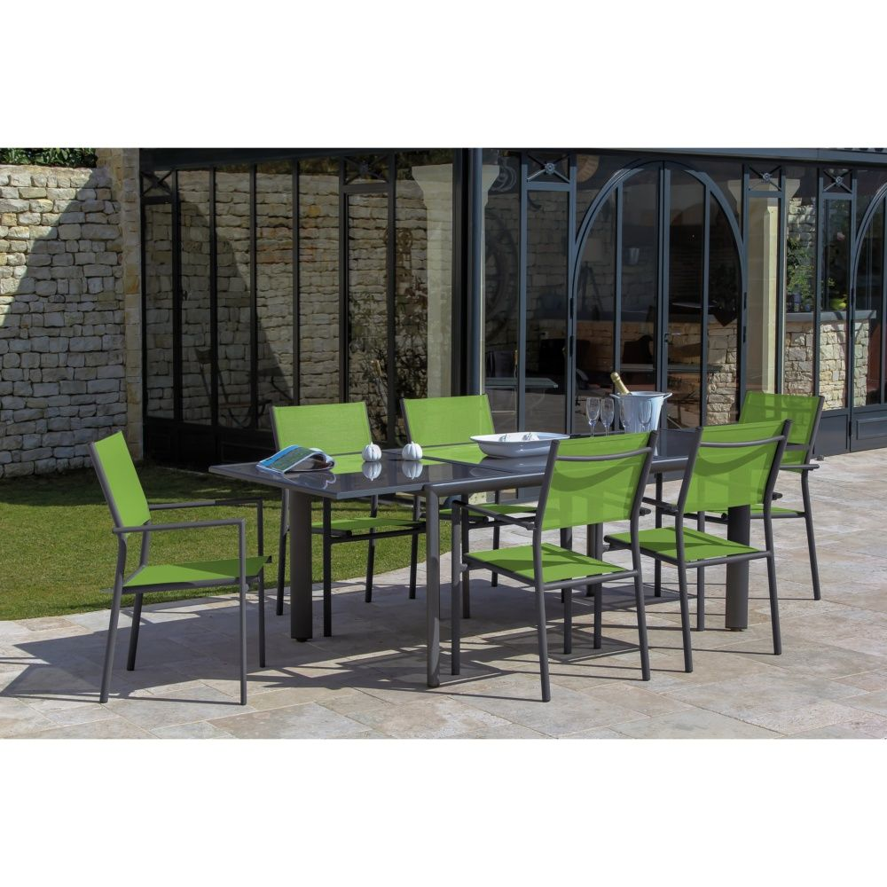 Table de jardin à allonge Messina aluminium l160/230 L100 cm gris ...