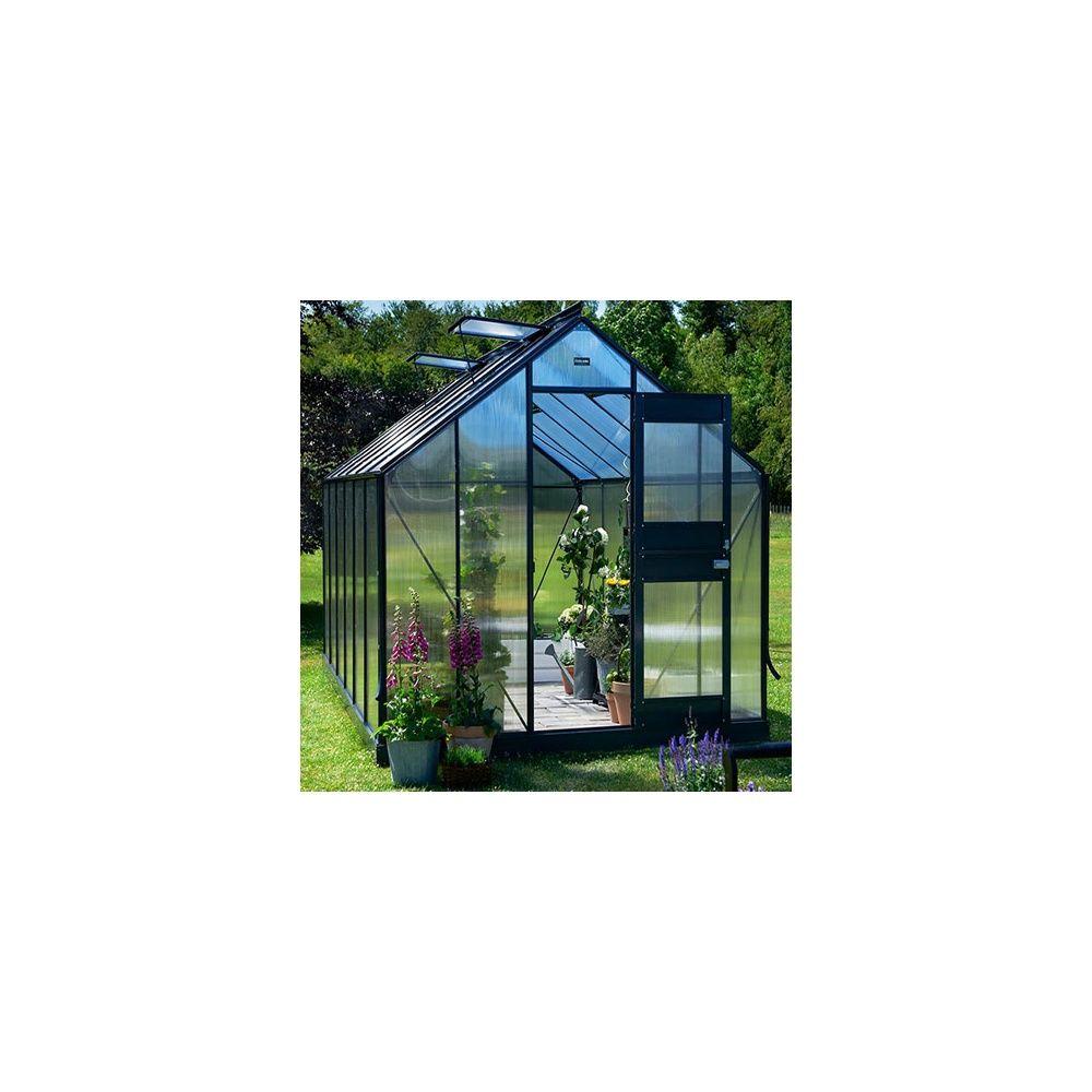 Serre polycarbonate Junior anthracite 9,90 m² + embase - Juliana
