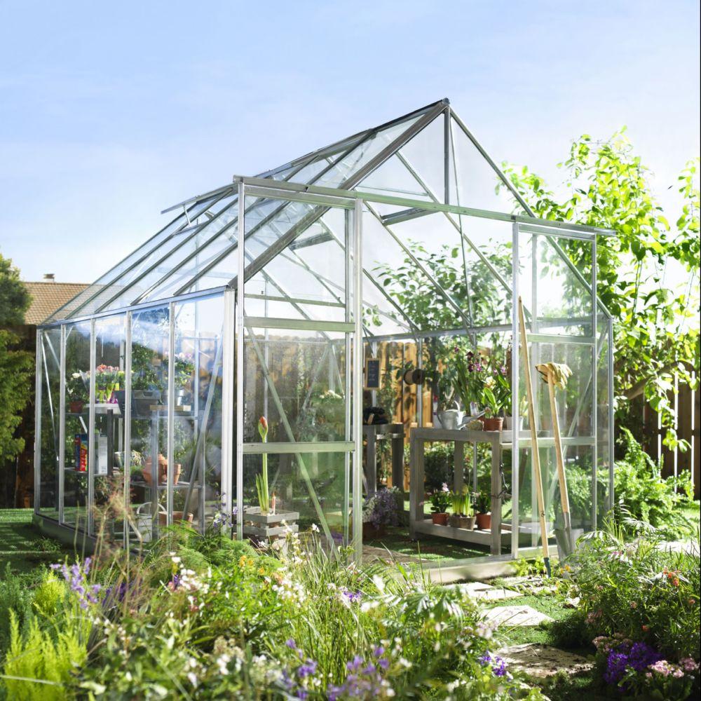 Serre de jardin Magnum verre horticole 8.3 m² - Halls Palette ...