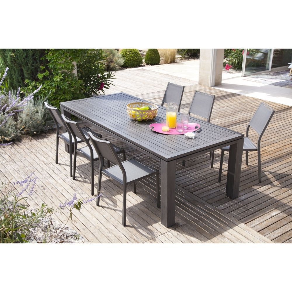 Table de jardin Fiero aluminium l180 L103 cm ice