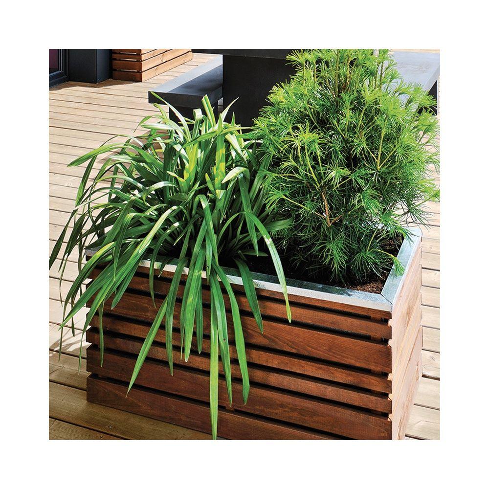 Bac à fleurs bois traité autoclave LignZ L100 H50 cm
