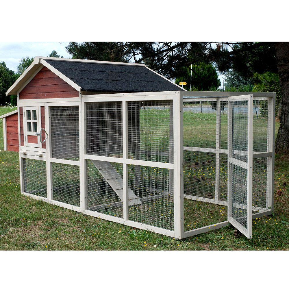 poulailler michigan 4 poules grand parcours inclus 2 cartons gamm vert. Black Bedroom Furniture Sets. Home Design Ideas