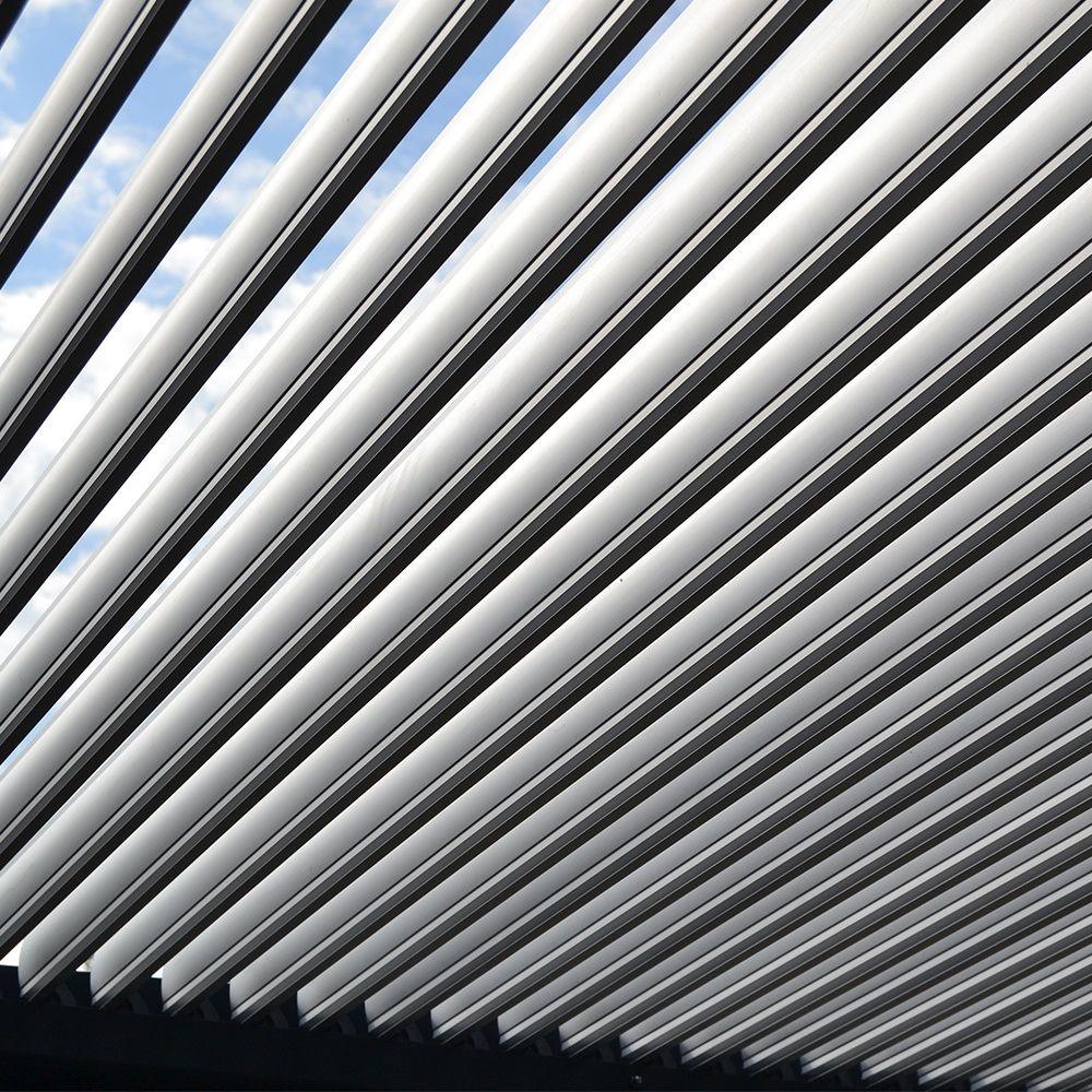 Tonnelle Adossée Aluminium 4x4 M Lames Orientables Boston Luxe