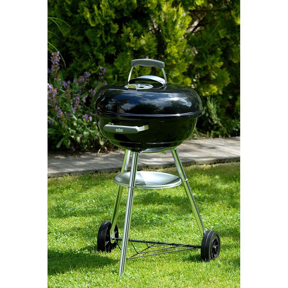 Barbecue charbon Weber Compact Kettle Ø47 cm noir