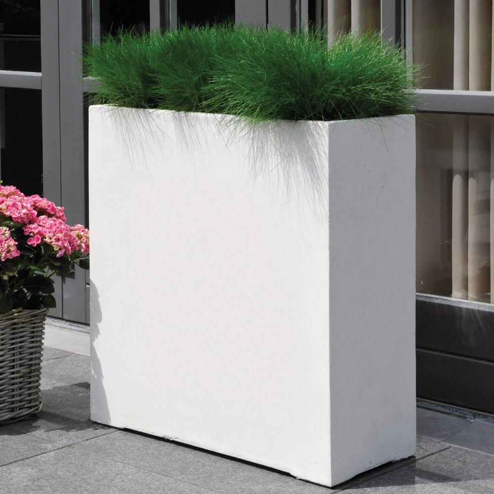 Bac A Fleur Grande Taille bac à fleurs fibre de terre clayfibre l80 h92 cm blanc