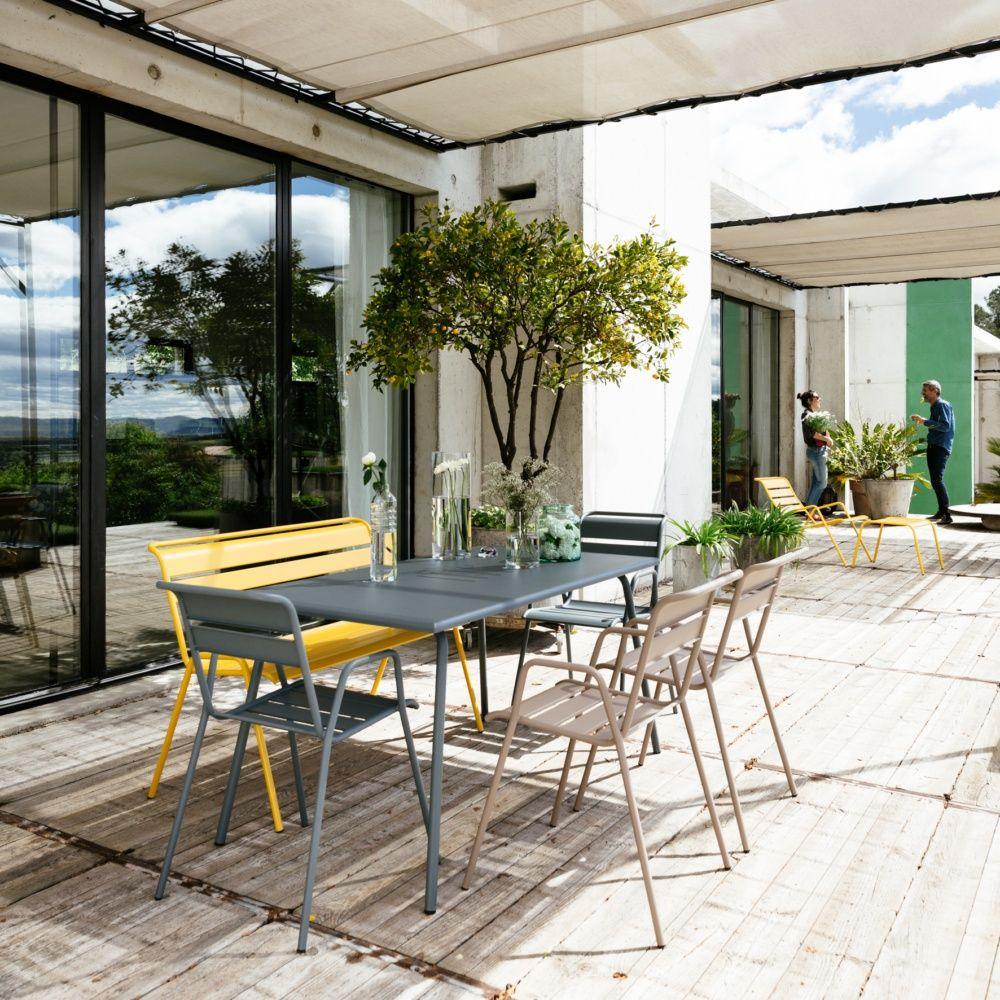 salon de jardin fermob monceau table l146 l80cm 6. Black Bedroom Furniture Sets. Home Design Ideas