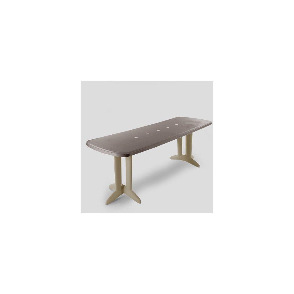 Table extensible Deco 180/250/320 x 112 cm - Cappuccino/Marron glacé -  Evolutif