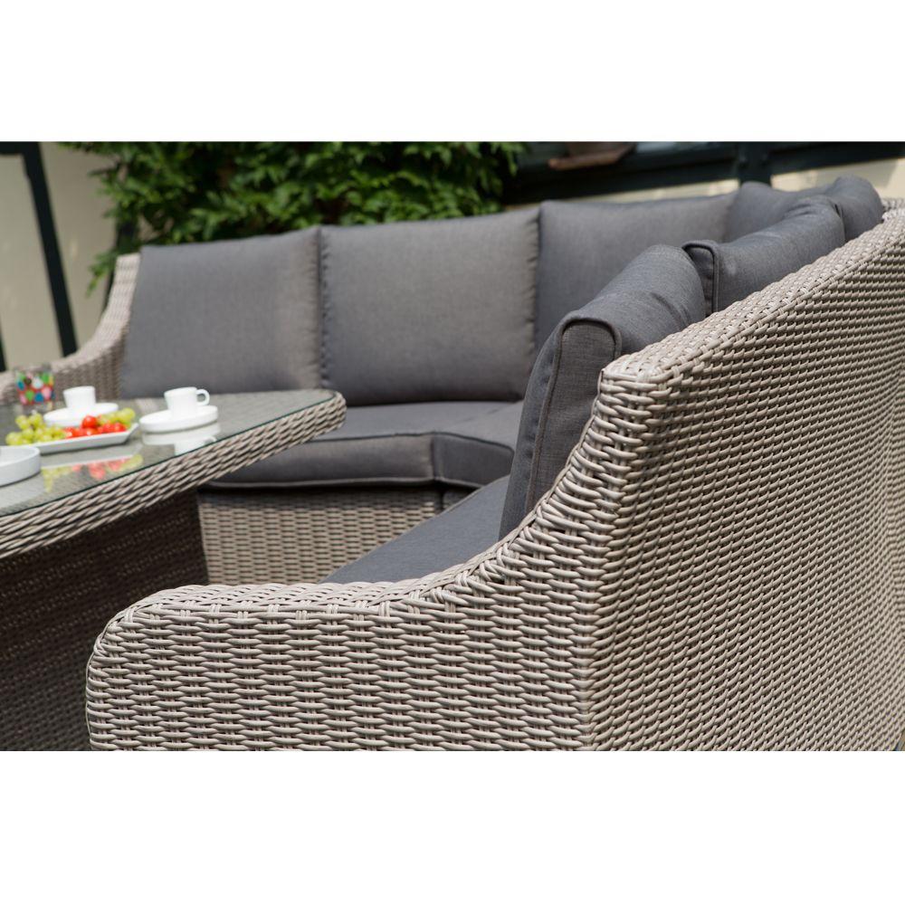 Salon de jardin Madrid Kettler résine : canapé d\'angle + table