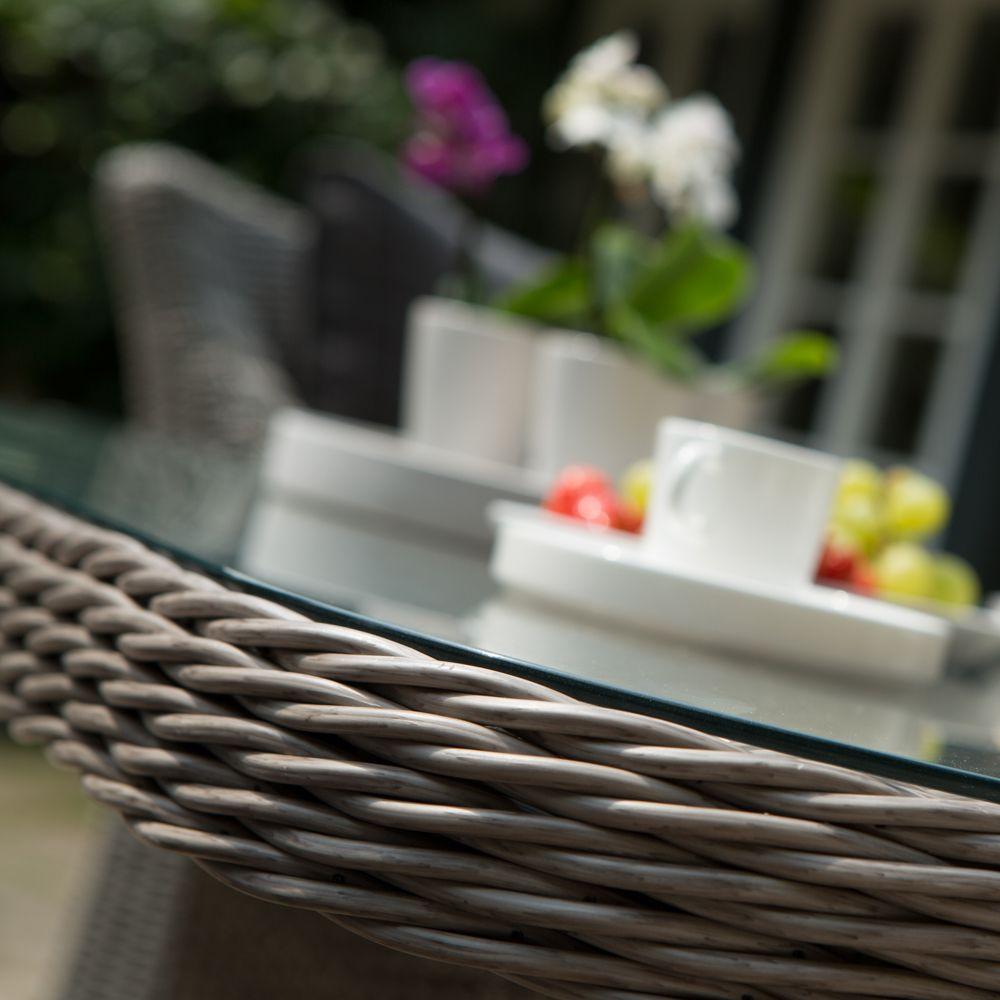 Salon de jardin Madrid Kettler résine : canapé d\'angle + table ...