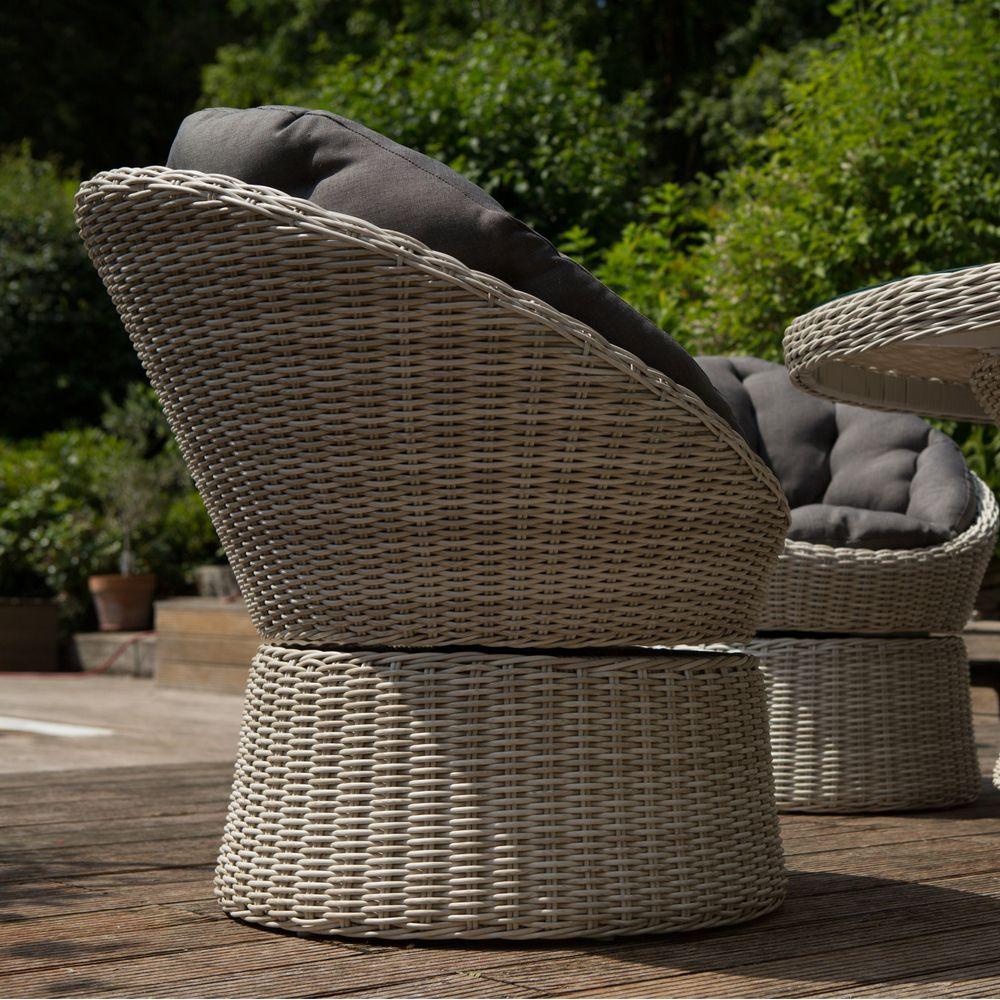 Salon de jardin résine Kettler Barcelona : 6 fauteuils + 1 table