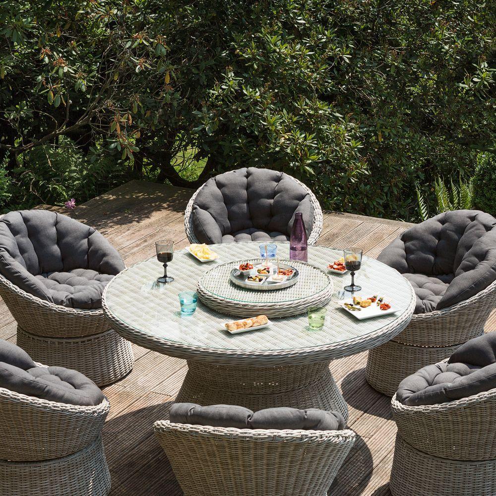 Salon De Jardin Resine Kettler Barcelona 6 Fauteuils 1 Table