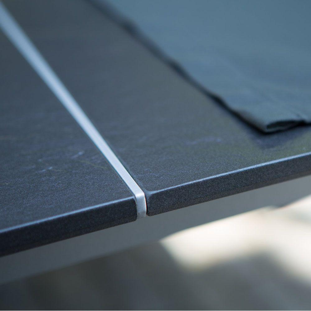 Table de jardin Kettler Loft effet ardoise L159/219 l94 cm anthracite