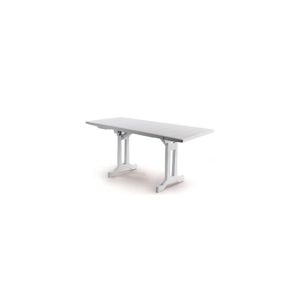Table pliante Perfecta 110/160 x 70 cm avec 2 allonges - blanc ...