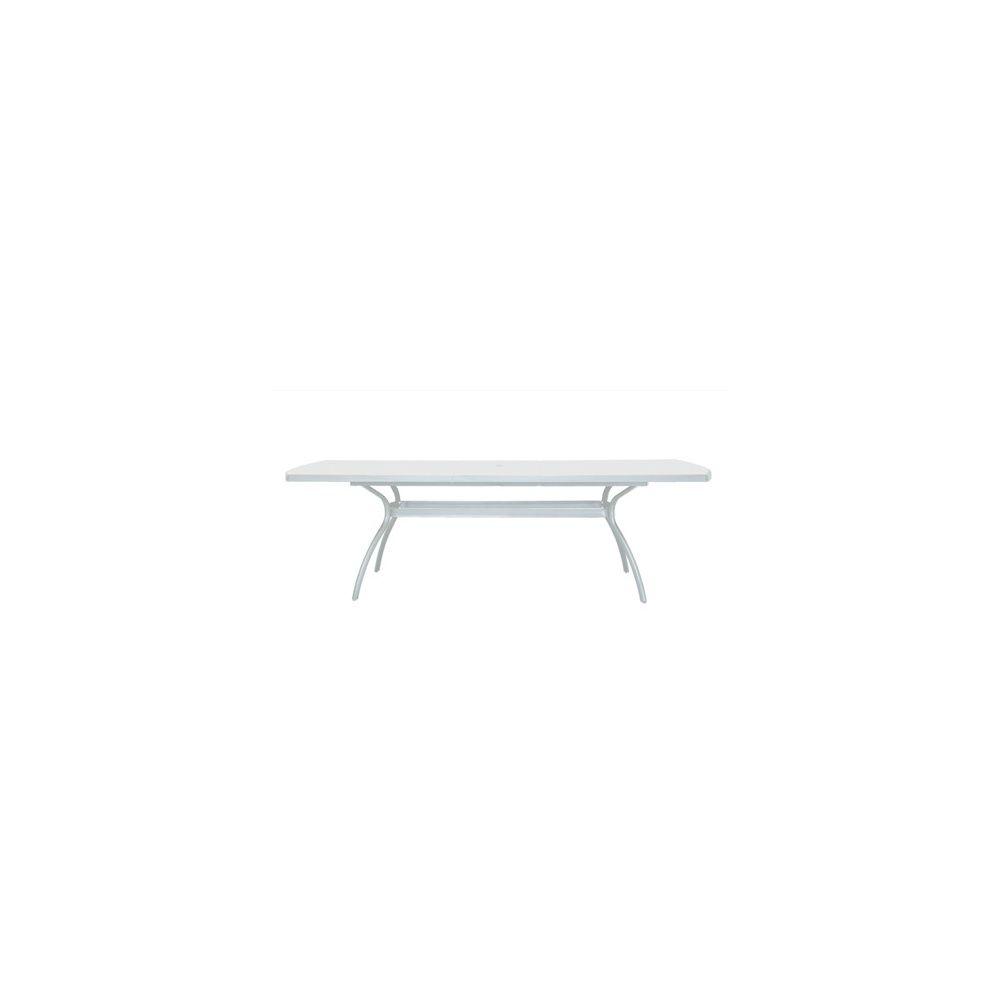 Table Floris avec allonge 210/265 x 108 cm - blanc - Evolutif