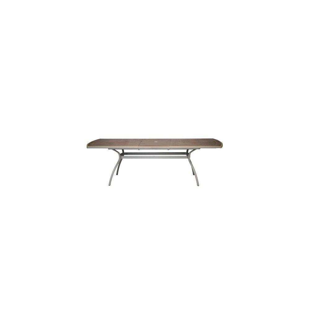 Table Floris avec allonge 210/265 x 108 cm - Cappuccino/Marron glacé ...