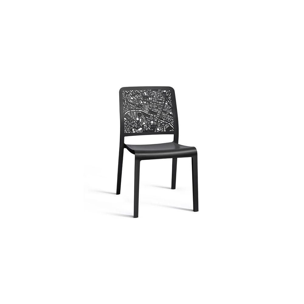 Chaise de jardin Charlotte City empilable - lot de 2 - Manganèse ...