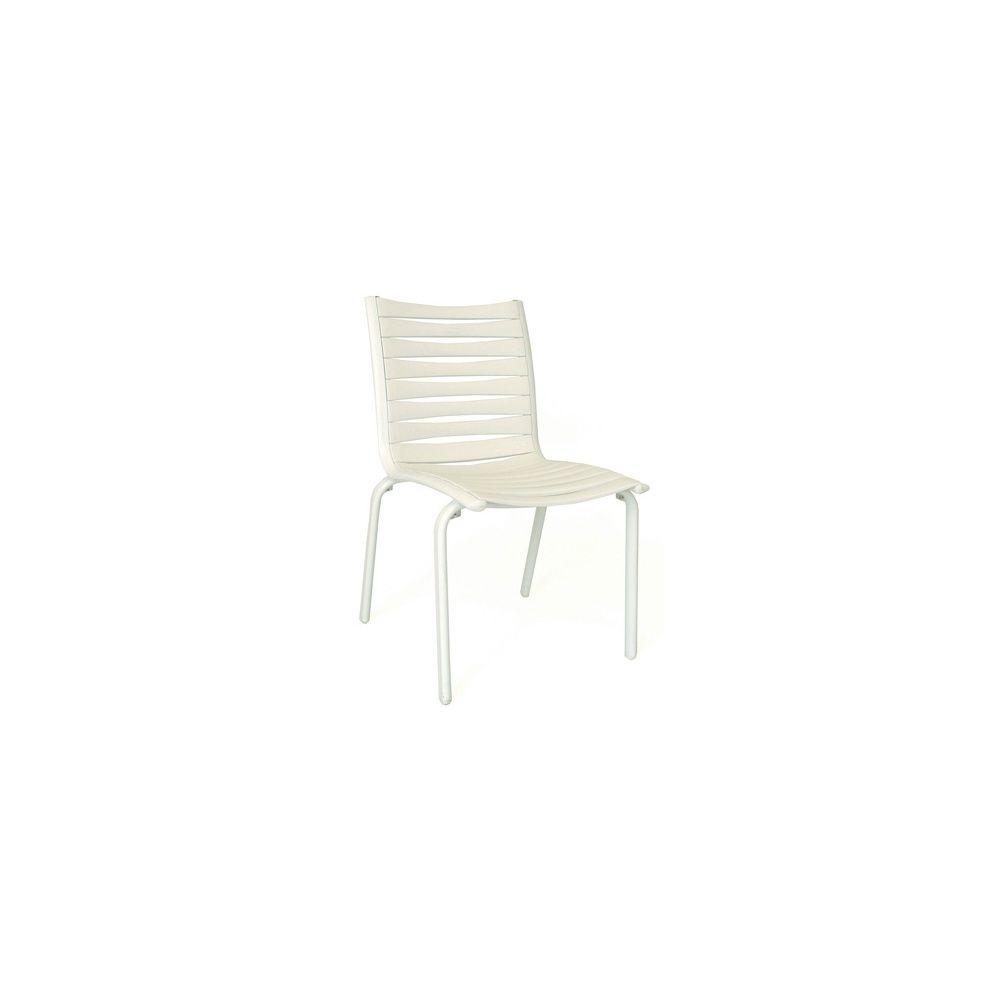 Chaises de jardin Floris empilable - lot de 2 - Blanc - Evolutif ...
