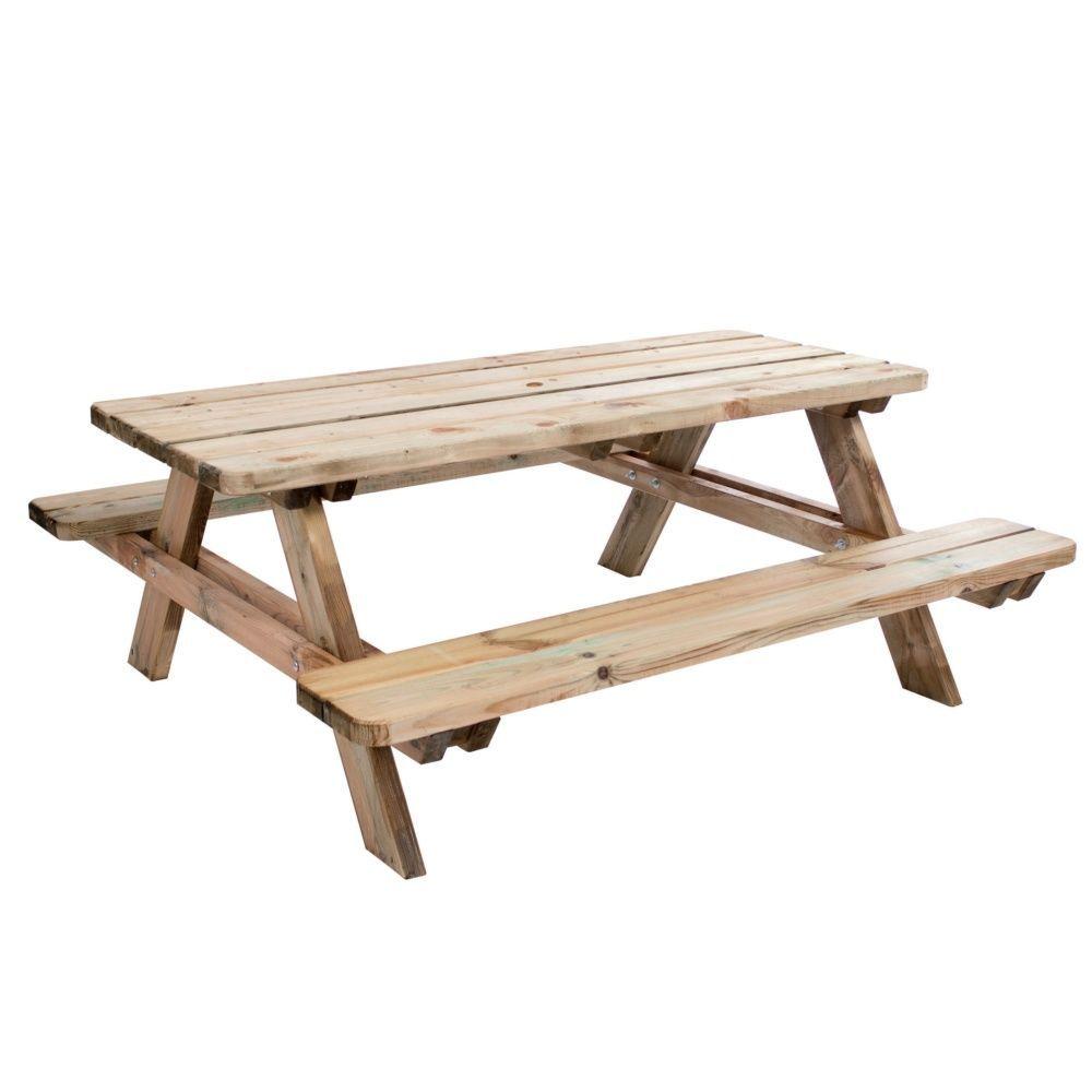 Table de pique-nique Matisse bois traité L180 l74 cm