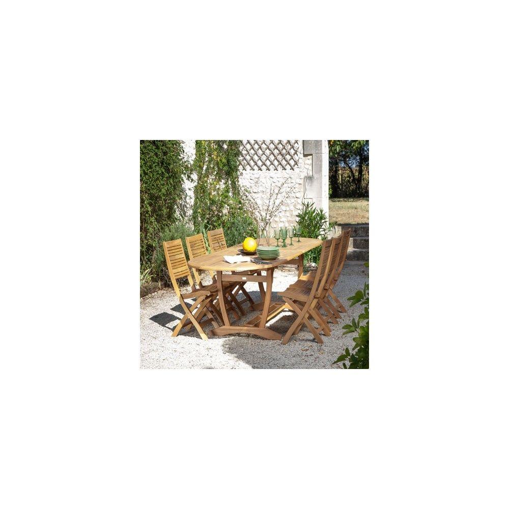 Table de jardin à allonge Arena bois l200 L100 cm