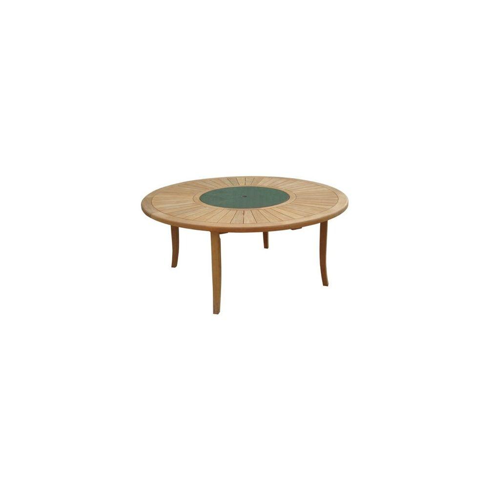 Table ronde Brehat 155 cm - Bois Teck FSC - Proloisirs Carton - Gamm ...