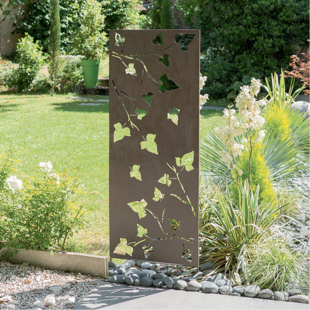 Panneau décoratif NORTENE en métal avec motifs feuilles