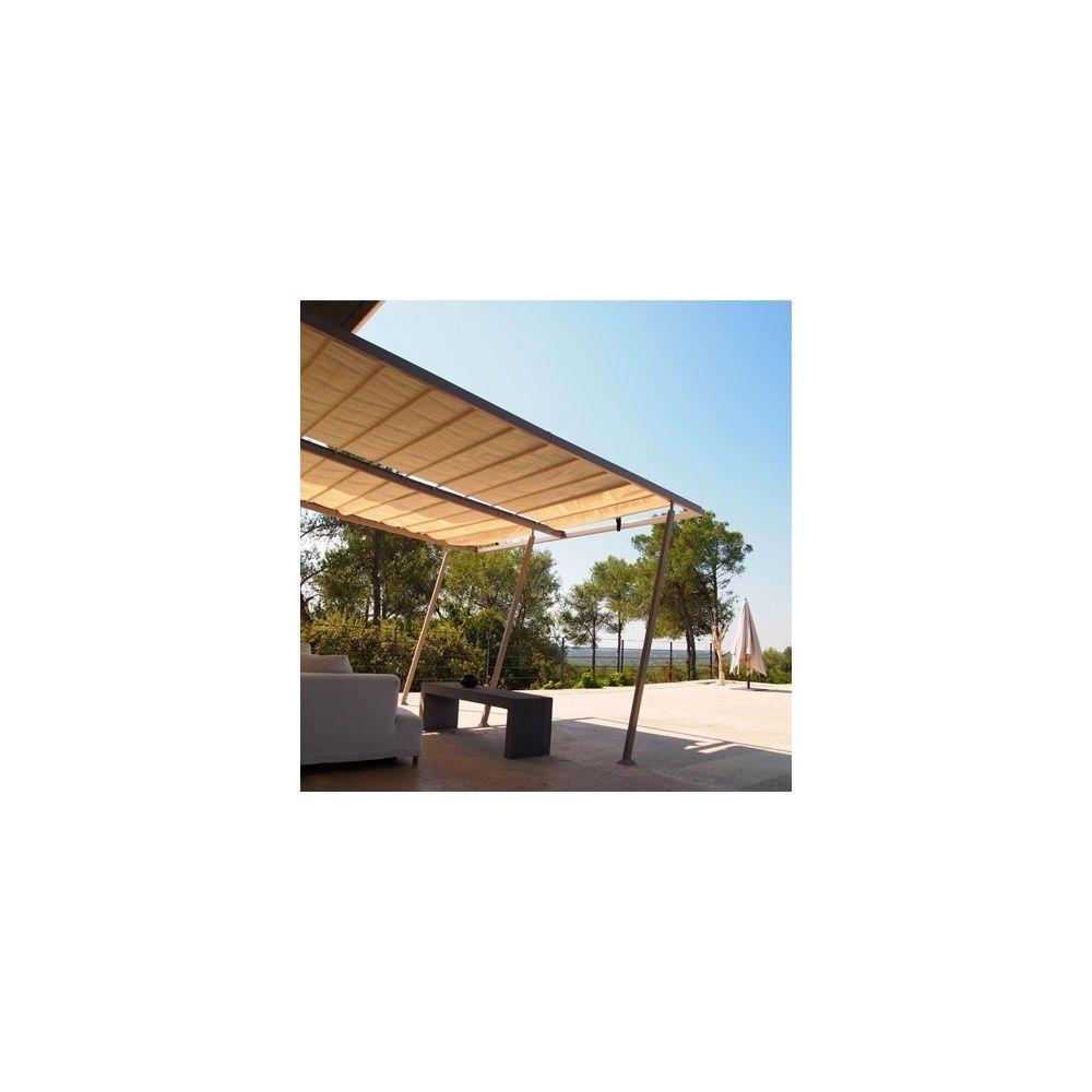 Structure pour tonnelle de jardin adossée 4x4 m Boston carton - Gamm ...