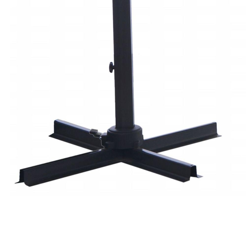 Parasol Déporté Aluminium 3x3 M Gris