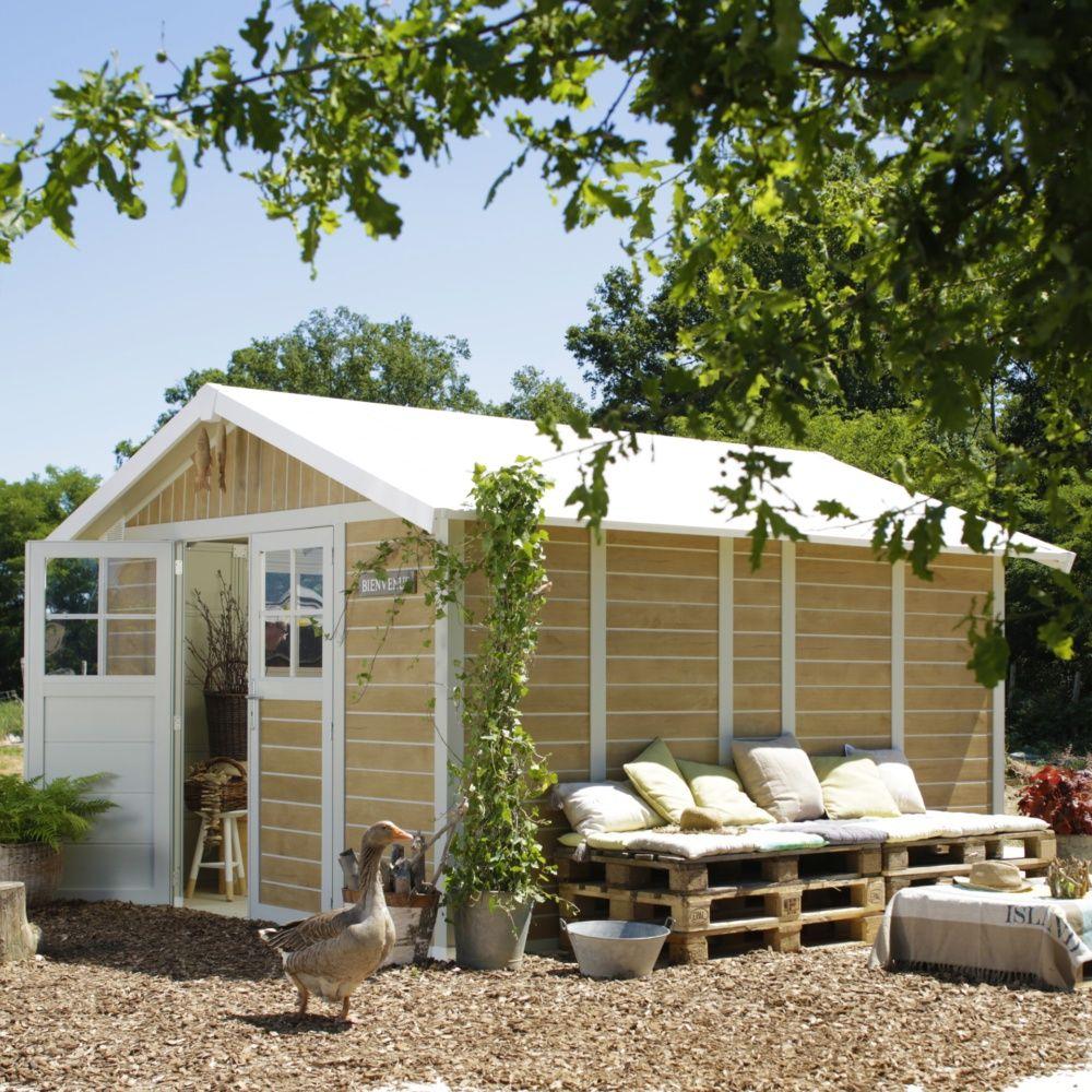 Abri de jardin résine Grosfillex 11,2 m² Ep. 26 mm Sherwood Colis ...