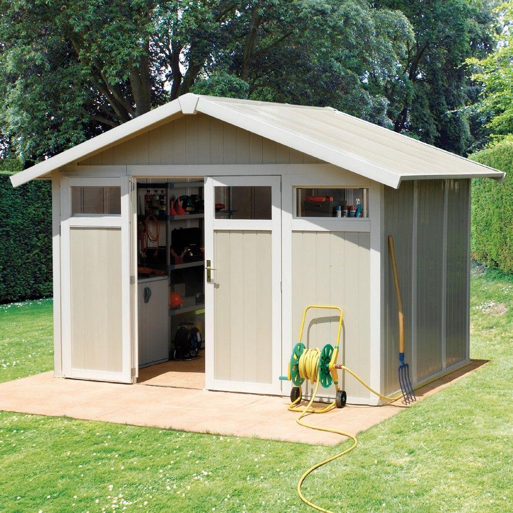 Abri de jardin résine Grosfillex 7,53 m² Ep. 26 mm Utility