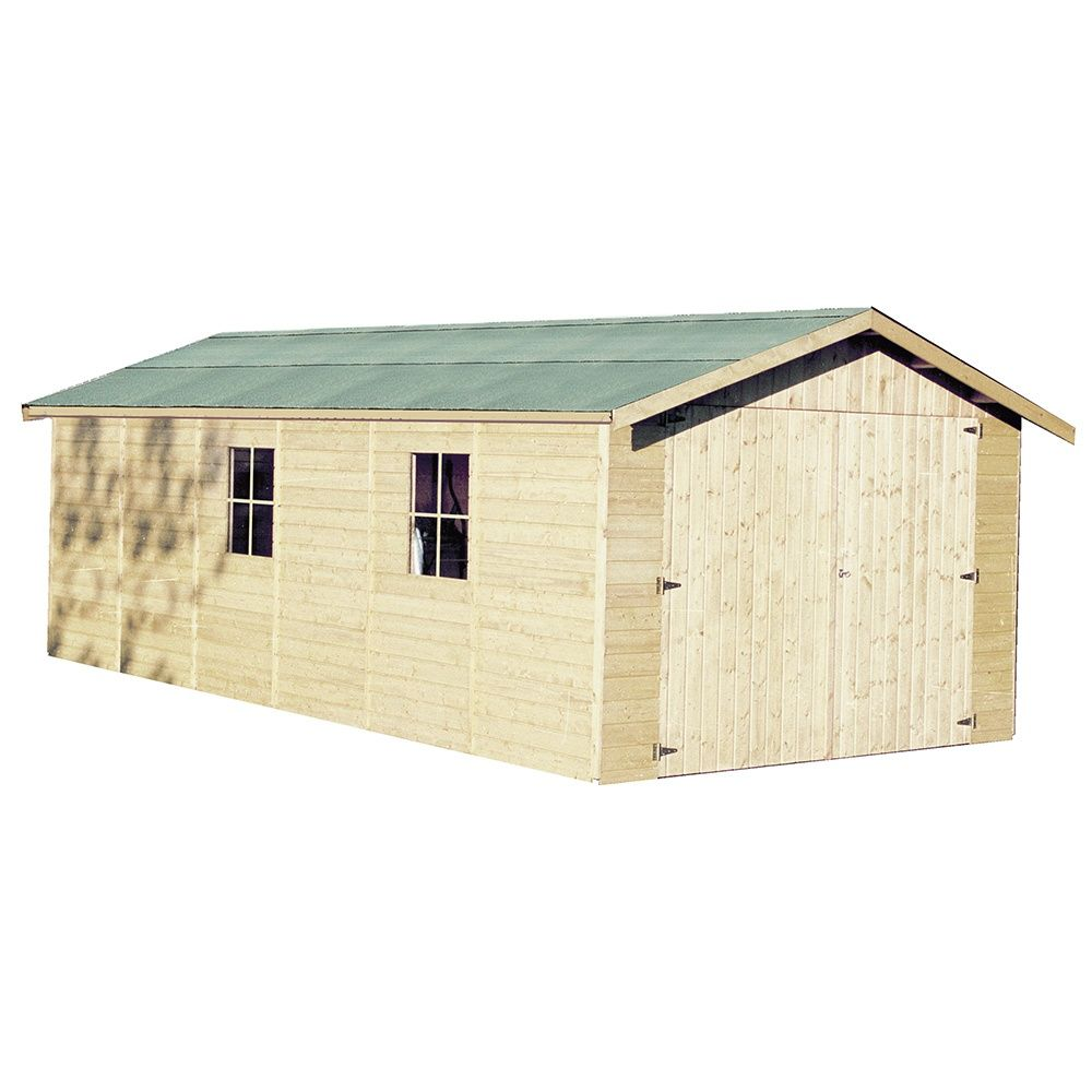 Garage bois Gapale 22,66 m² Ep. 15 mm