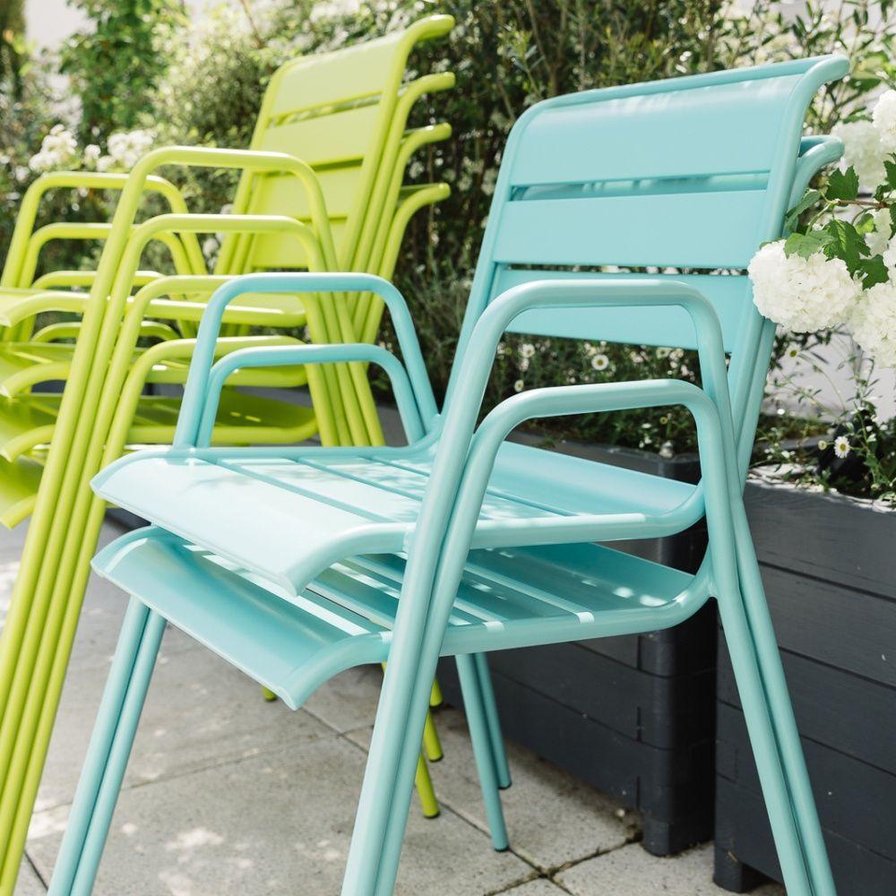 salon de jardin fermob monceau table l194 l94cm 8. Black Bedroom Furniture Sets. Home Design Ideas