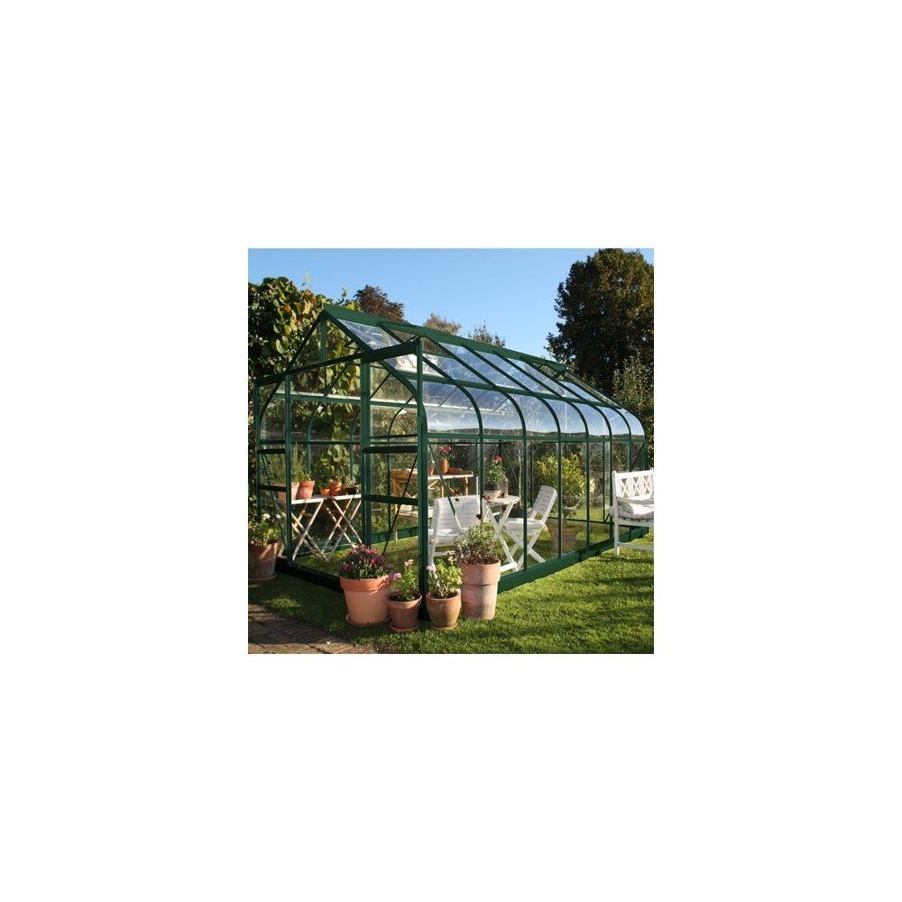 Serre de jardin - Embase pour serre en verre trempé Supreme vert 5 m² - Halls - Serre de jardin GammVert
