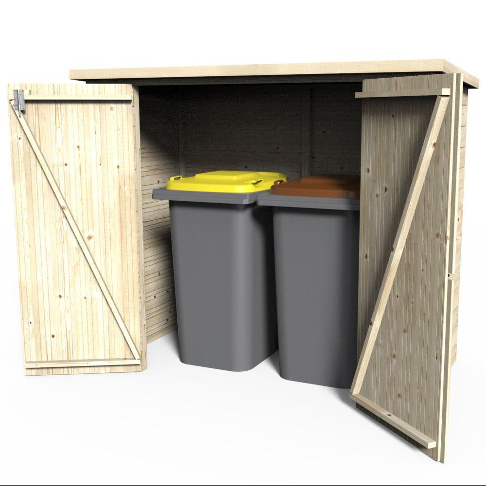 Remise de jardin bois Bike Box 1.88 m² Ep.12 mm Colis : L 195 x l ...