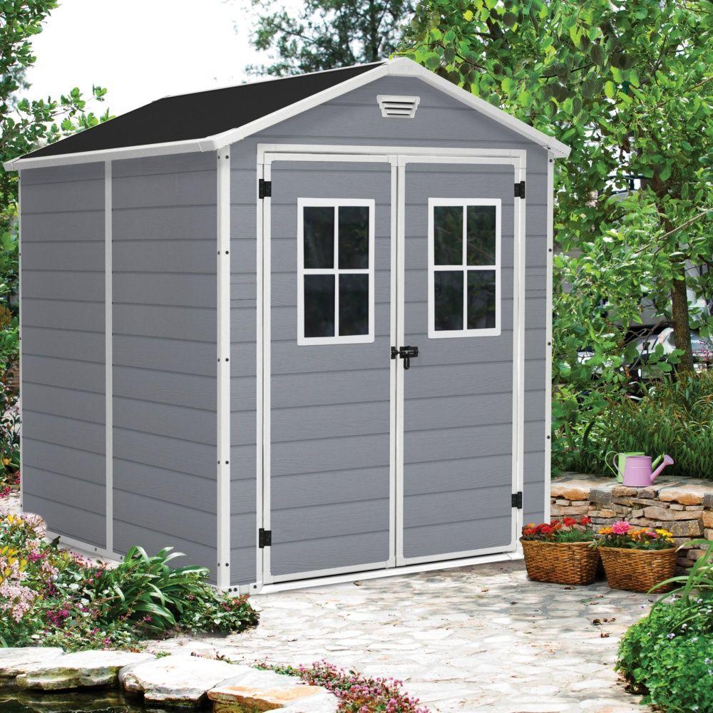 Petit abri de jardin résine Keter 4,40 m² Ep.16 mm Premium 86+