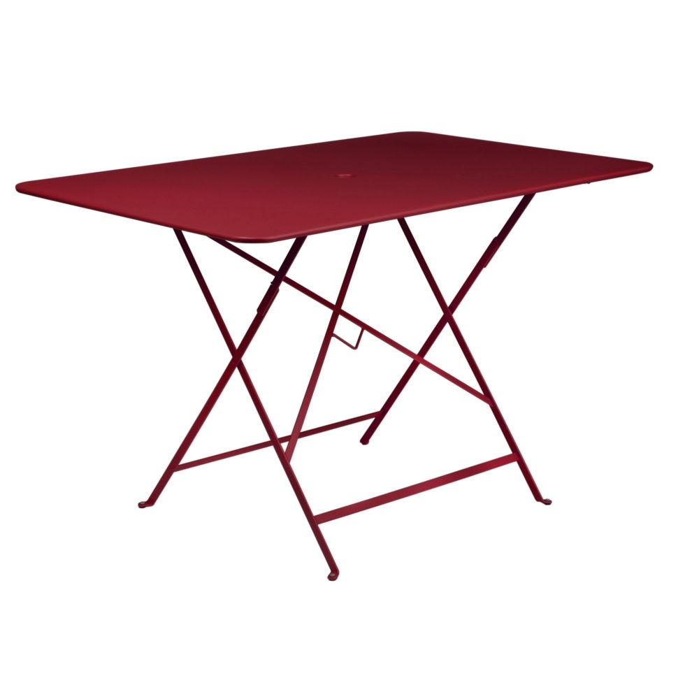Table de jardin Fermob Bistro rectangulaire pliante 6 pers- piment