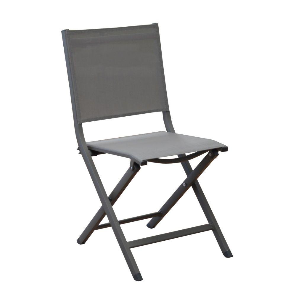 Chaise pliante Thema aluminium/textilène café
