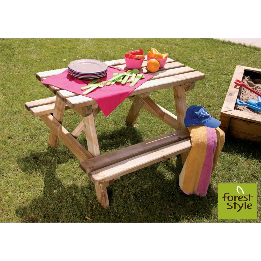 Table de pique-nique enfant bois